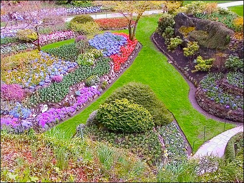 Butchart Gardens in April by mmmee (on flickr)