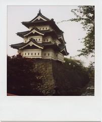 Hirosaki Castle (convexstyle) Tags: park castle japan sx70 site spot aomori cherryblossom sonar hirosaki poraloid hirosakipark 5photosaday notablesite