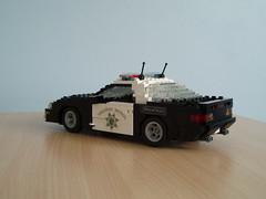 CHP Chevrolet Camaro (1) (Mad physicist) Tags: chevrolet lego camaro policecar chp lugnuts californiahighwaypatrol