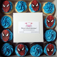 Spiderman Cupcake Box