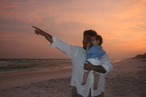 Humzah & Dad at Sunset