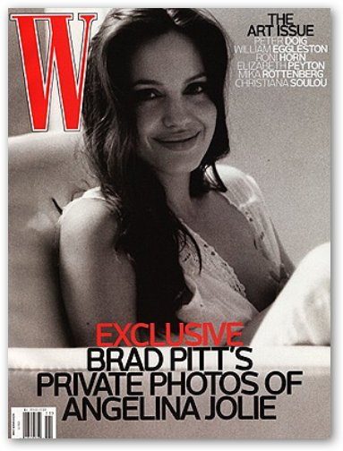 "Angelina Jolie Breastfeeding on ""W"" Magazine Cover"