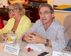 Presidente Marcelo Queiroz e Jeane Amaral