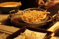freshly cooked tempura