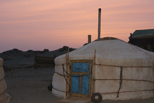 Sunset in the Gobi desert
