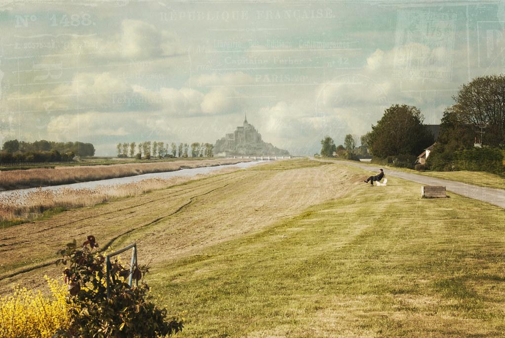 le Couesnon en sa folie mit le Mont en Normandie