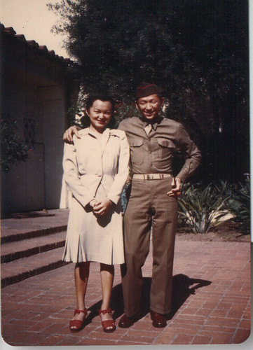 Eddie with sister Grace after the war.