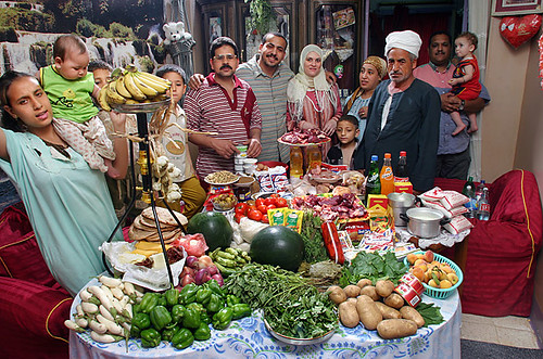 Egypt - $68.53 a week for food