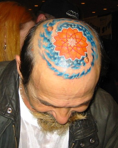 Unique Tattoos on Head