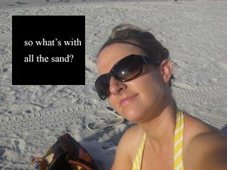 sand self portrait