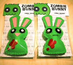 Zombie Bunny Magnets