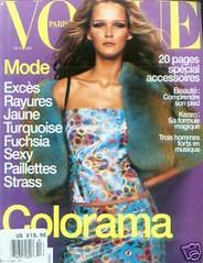 Vogue Paris Octobre 1999 (Ze Cali Fairy) Tags: fashion magazine model vogue cover carmenkass frenchvogue vogueparis