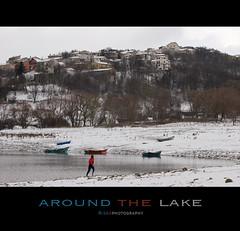 Around the lake... (loricaman78) Tags: park lake cold water lago running runners around inverno freddo corsa correre campotosto campotostorunning