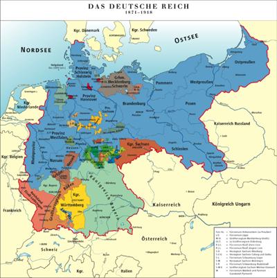 Die Grenzen des Deutsches Reich