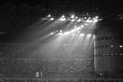 Luci a San Siro (the bbp) Tags: bw lights football milano soccer bn luci sansiro attendance calcio pubblico stadiomeazza thebbp italiafrancia dragongoldaward