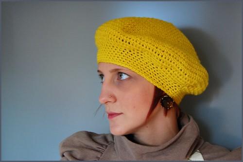 yellow beret