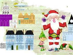 Sub Pop Christmas Card by S.britt