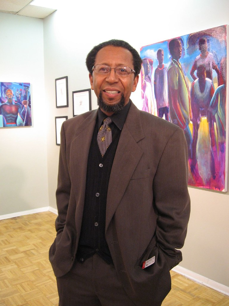 James Dupree in his gallery