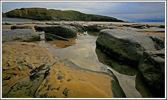Dunraven Bay rock pools (opobs) Tags: winter sea sky seaweed beach wet water pool southwales clouds reflections sand rocks cliffs foreshore bridgend southerndown wetknees dunravenbay glamorganheritagecoast