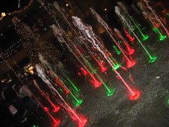water wonderland (2) (_melika_) Tags: christmas water lights christmastree hollywood waterfountain hollywoodandhighland
