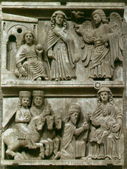 Pistoia, chiesa San Bartolomeo, relief (groenling) Tags: christmas xmas stella horse gabriel angel star king maria dove mary jesus birth chiesa gift angelo cavallo annunciation nativity magi pistoia dono sanbartolomeo pistoria nativitas