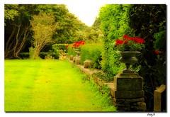 Jardines del Chateau de Keriolet - Chateau of Keriolet's gardens (EddyB) Tags: france verde green gardens nikon europa europe d70s francia jardines orton eddyb frenchbrittany concarnau bretaafrancesa efectoorton ortonseffect allnicethink chateaudekeriolet chateauofkeriolet
