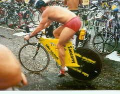 Pro triathlete from the early days. How about that fit? Photo: Dave August