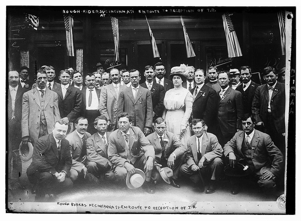 Teddy Roosevelt Rough Riders. Rough riders at Cincinnati,