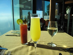 three delicious options... one spectacular place (jen clix) Tags: california bigsur pacificocean mimosa bloodymary whitewine postranchinn threedifferentdrinks onefantasticweekend threedifferentgirls