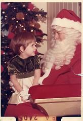 My Santa picture, age 3