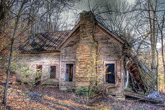Big Vine (Patrick Henson) Tags: old house abandoned rural wideangle shack hdr decayed tinroof northgeorgia sigma1020