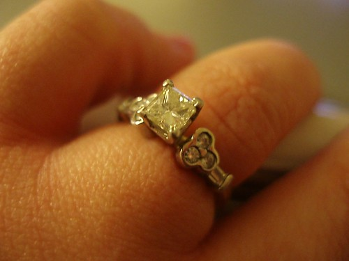 my husband did the best job ever picking my engagement ring - Mickey Mouse Wedding Ring