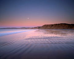 Moonset, Drake's Bay (Lightchaser) Tags: california nature landscapes seascapes sunrises soe sirfrancisdrake pointreyesnationalseashore drakesbay fujivelvia themoulinrouge mediumformatfilm transparencyfilm moonsets abigfave shieldofexcellence wowphoto diamondclassphotographer flickrdiamond megashot citrit flickrslegend betterthangood garotacarioca goldenglobe1awards natureselegantshot pr01112 tgzclosed