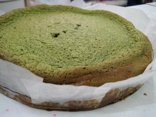 gâteau au thé vert et au chocolat blanc