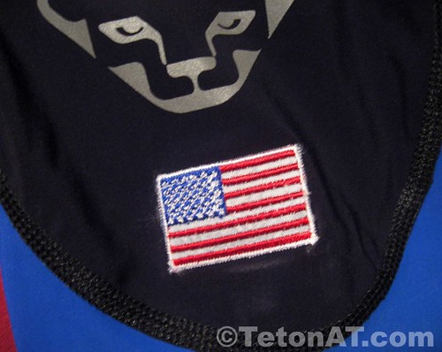 USA patch on race suit