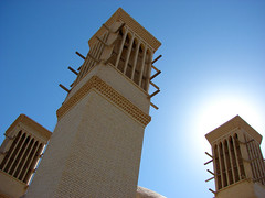 Wind tower (Alieh) Tags: blue architecture persian iran wind persia iranian  windcatcher windtower        aliehs alieh