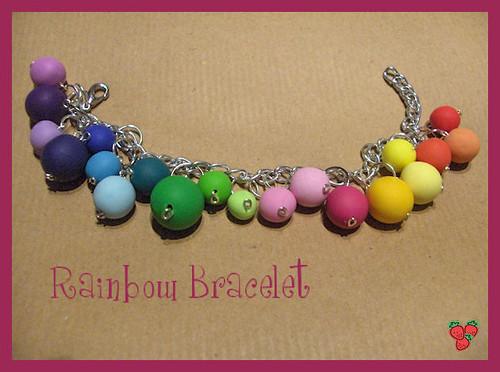 Braccialetto arcobaleno fimo - Rainbow Bracelet