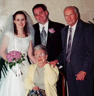 at our wedding, 2001