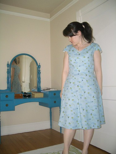 Dress from Japanese frog print cotton