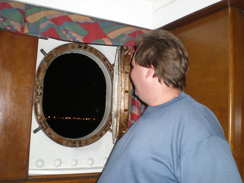 Mike Looking Out Our Other Porthole