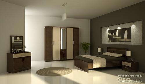 Bedroom Furniture Rendering
