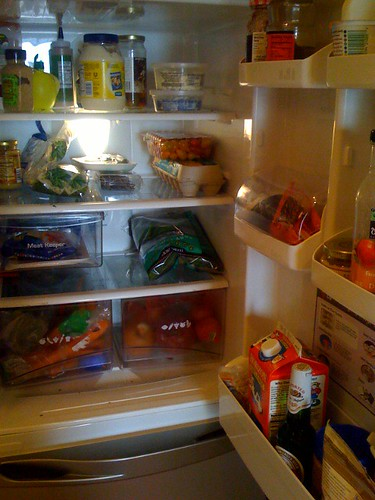 kitchen cure - fridge after decluttering