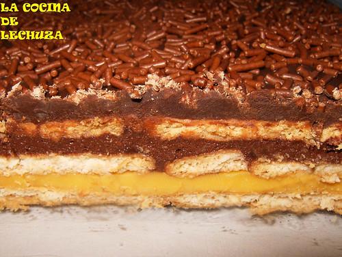 Tarta de galletas-corte