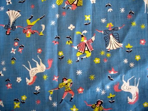 vintage fairy tale fabric