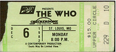 The WHO 1982 Checkerdome St. Louis Concert Ticket Stub (gregg_koenig) Tags: st louis 1982 concert who ticket schlitz stub checkerdome