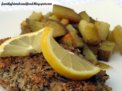 Lemon Matzo Chicken and Roasted Potatoes