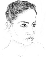 lines (Talya.c) Tags: portrait woman girl face lines illustration pencil paper sketch talyac