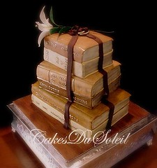 Vintage Books (JacqueBenson) Tags: wedding cakes books specialty cakesdusoleil