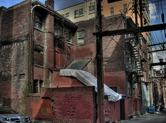 100 West Hastings alley (laniwurm) Tags: vancouver alley dtes hdr fearlesscity