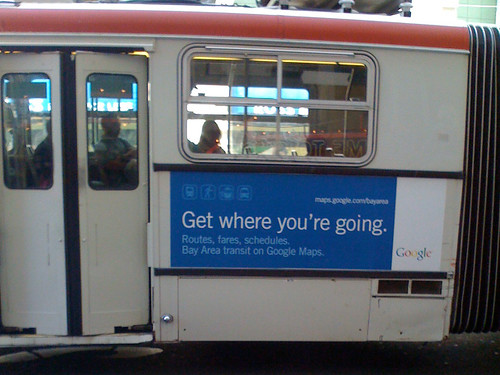 Google ad on MUNI bus